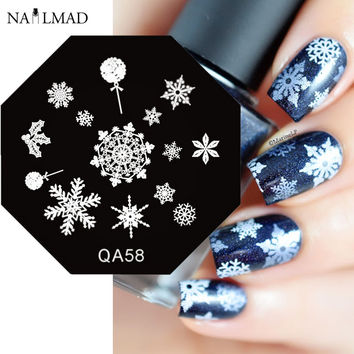 Snowflake Nail Art Stamp Template Winter Style Nail Stamping Plate Christmas Snow Stamp Plate Nail Tools QA58