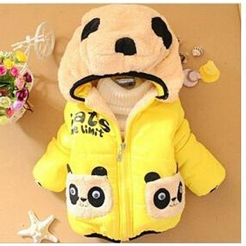 Special offer !Children Clothing panda Cartoon Outwear Child Boy Winter Wear Thickening Outerwear Coat Kids cotton-padded jacket