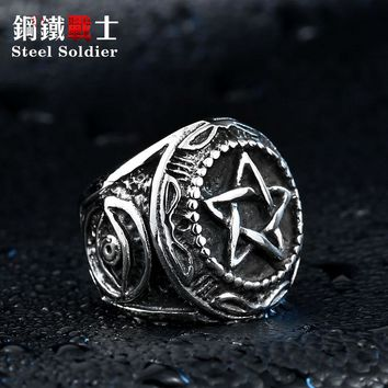steel soldier stainless steel star of david ring  men high quality fashion jewelry for titanium steel ring