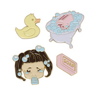 Melanie Martinez Soap Cry Baby Enamel Pin Set
