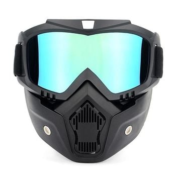 bike glass Cycling Goggle Motorcycling Goggles UVA400 Winter Skiing Goggle Riding Skating Sports Goggle with Detachable Mask