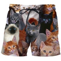 Cat Collage Board Shorts