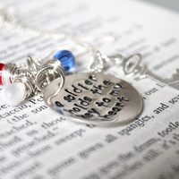 "SALE- Hand Stamped ""A Soldier Holds The Key To My Heart"", Military Wife or Military Girlfriend, Army, Navy, Marine Necklace"