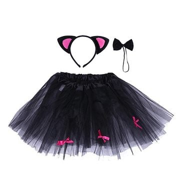 Newborn Photography Props Infant Halloween Costume Outfit Baby Tutu Skirt Head wear Clothes for Masquerade Halloween Party