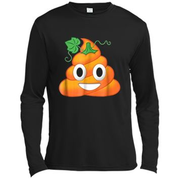 Halloween Poop Emoji Pumpkin Funny  Long Sleeve Moisture Absorbing Shirt
