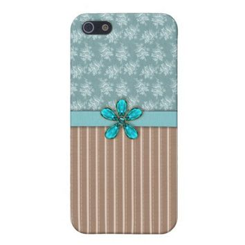 Aqua Jewel Case For iPhone 5 from Zazzle.com