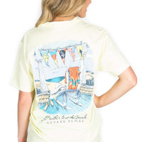 Lauren James: I'd Rather Be at The Beach Tee {Yellow}