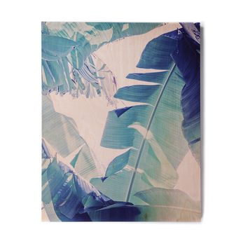 "Ann Barnes ""Banana Leaf Blue"" Blue Green Photography Birchwood Wall Art"