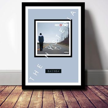 EMINEM Recovery CD Album Cover Print Signed Autograph. Gift Present Poster Photo Artwork Framed Wall Art Tour Tickets