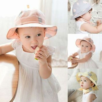 CUPUP9G Toddler Infant Sun Cap Polka Dot Summer Outdoor Baby Girl Hats Beach Bucket Sun Hat