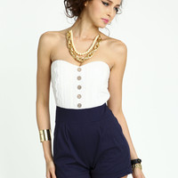 Nautical Lace Romper