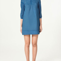 DRESS WITH LACE TRIM - Dresses - Collection - Woman - ZARA United States