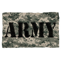 ARMY/CAMO-FLEECE BLANKET-WHITE-48x80