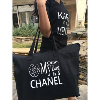 MY OTHER BAG IS A CHANEL - Black Tote bag