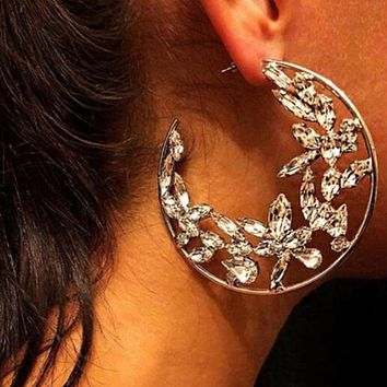 New ice flower earring hot-selling alloy set with diamond street fashion female accessories