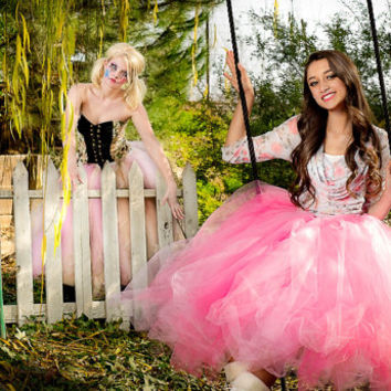Adult pink tea length tutu , tea length tutu, sewn tutu, bridal, bridesmaid tutu, wedding bridal tulle skirt, ballerina dance tutu, prom
