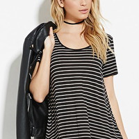 Striped Scoop-Neck Top
