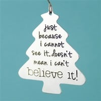 Nightmare Before Christmas - Believe Ornament - Spiffing Jewelry