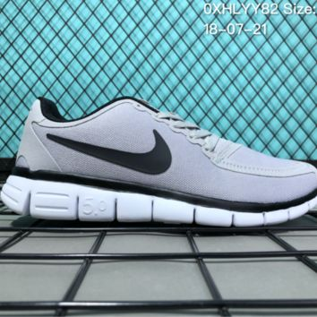 HCXX N085 Nike Air Zoom Free RN 5.0 Breathable Causal Running Shoes Grey
