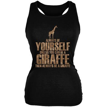 Always Be Yourself Giraffe Juniors Soft Tank Top