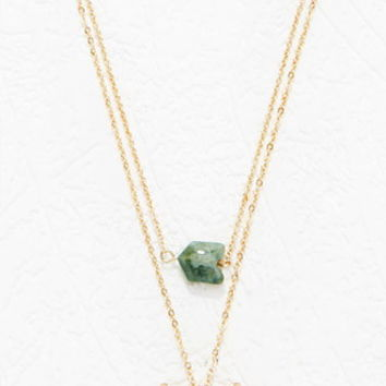 Faux Stone Layered Necklace