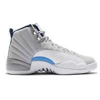 Air Jordan 12 Retro Wolf Grey UNC University Blue Men's Shoe Size (10.5)
