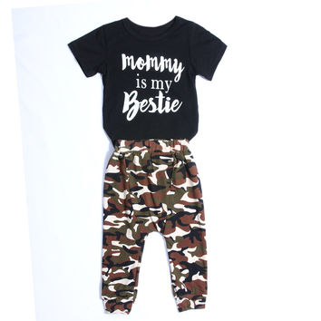 Baby boy clothes cotton T-shirt+trousers 2pcs baby boys clothing set infant 2pcs suit Short Sleeve Baby Boy Summer Clothing Set