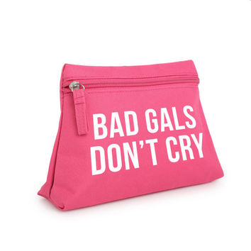 bad girls dont cry makeup bag pencil case purse toiletry cosmetic organizer tumblr hipster grunge retro vtg indie boho swag cute kawaii