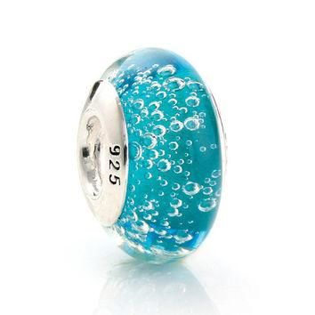 925 Sterling Silver Murano Glass Beads Europe Fits Pandora Charm Bracelets Necklaces &