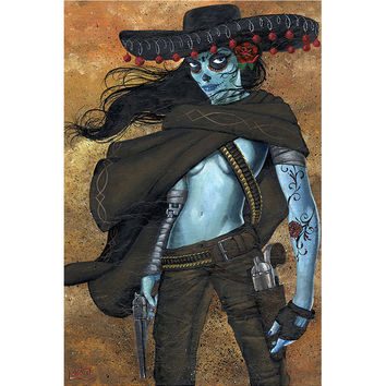 Lowbrow Art Company La Mujer Art Print by Artist JR Linton