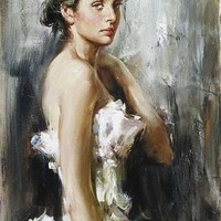 Andrew Atroshenko Quiet Eloquence [Andrew Atroshenko_A3723] - $99.00 oil painting for sale|Wonderful artwork|Buy it at once.