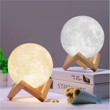 Rechargeable 3D Moon Lamp (dimmable)