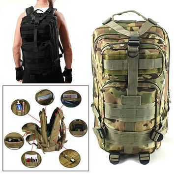 3PC Military Tactical Backpack Oxford Sport Bagfor Camping, Traveling, Hiking, or Trekking...Outdoor Hiking Bag, Explore your Vision