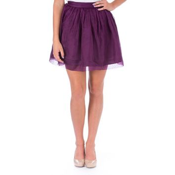Elizabeth and James Womens Sarafina Silk Organza Flare Skirt