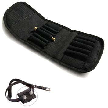 Tatcical Handgun Bullet Holder Foldable Ammo Belt Carrier Quick Release 12 Round Shell Rifle Cartridge Pouch