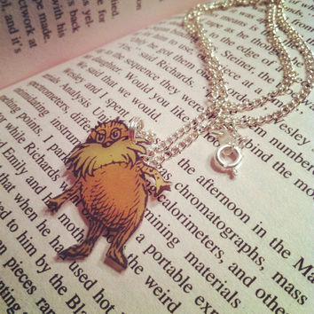 I speak for the trees - Lorax necklace