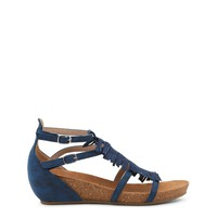Xti Blue Ankle Strap Fringes Sandals