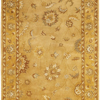 Dynamic Rugs Charisma Gold Classic Rectangle Area Rug