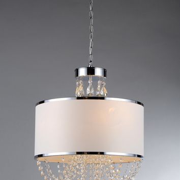 Hera Shaded Crystal-detailed 4-light Chandelier