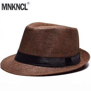 MNKNCL 2018 New Breathable Panama Style Straw Hat For Adult Summ 8e0a9b8e72e3