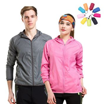 Men Women Quick Dry Hiking Jacket Waterproof Sun&UV Protection Coats Outdoor Sport Skin Jackets Summer autumn Rain Thin Jackets