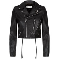 Saint Laurent Cropped Biker Jacket | Harrods