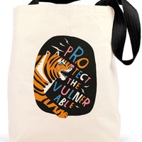 Protect the Vulnerable Canvas Tote Bag - LAST ONE!