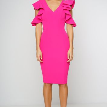 Tyra Dress - Hot Pink