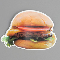 all you can eat press - classic burger post card