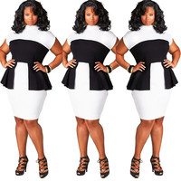 Sexy Women Plus Size Casual Bodycon Party Evening Cocktail Dress Clubwear Dress