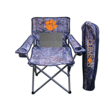 Clemson Tigers NCAA Ultimate Real Tree Camo Adult Tailgate Chair
