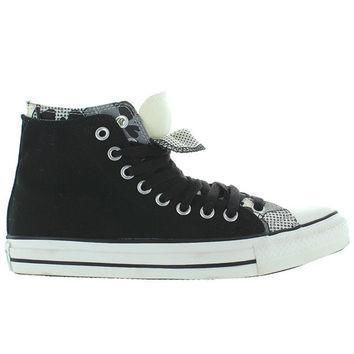 converse all star chuck taylor 2x upper hi black white canvas double upper high top