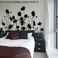 Vinyl Wall Decal Sticker Field of Wild Flowers #AC148