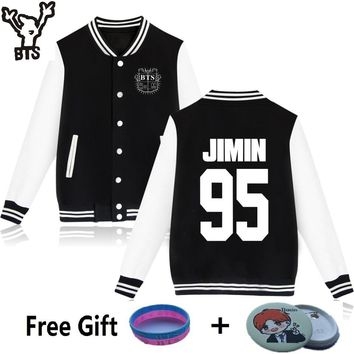 BTS Bangtan Boys Harajuku Sweatshirts Women Winter Casual Hoodies BTS Kpop Hoodie Women's Pink Sweatshirt